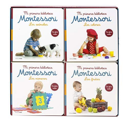 Mi primera biblioteca Montessori: Los colores · Las frutas · Los números · Los animales