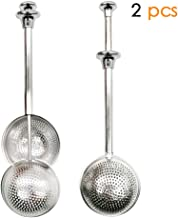 Xloey Tea Strainers, Long-Handle Tea Infuser Ball (2 Pack) for Loose Leaf Tea, Stainless Steel Loose Leaf Tea Infuser