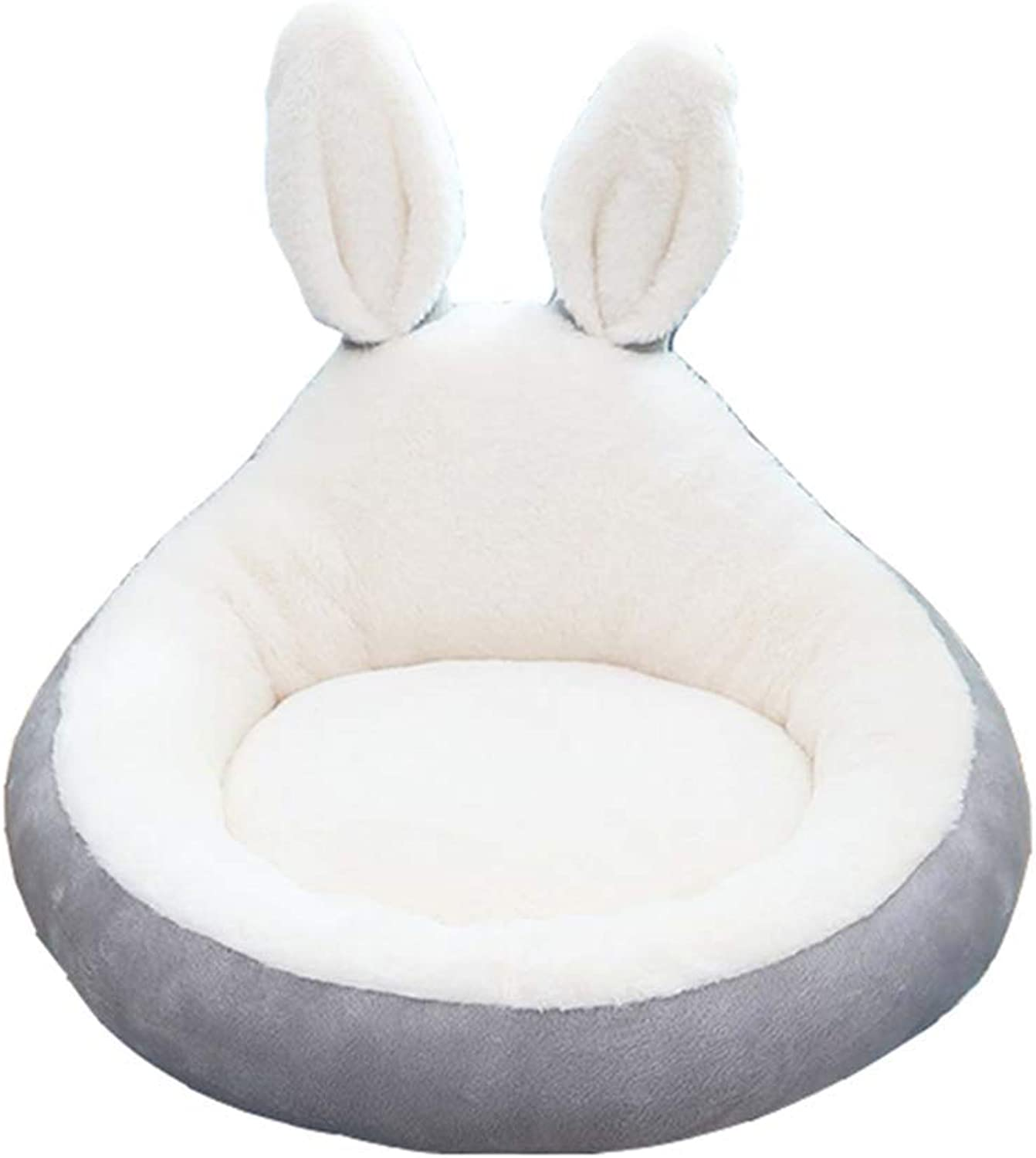 Desti Flakes Pet Bed Round Cat Nest Teddy Kennel Four Seasons Universal Small Pet Bed Rabbit Ear Model (Size   S)