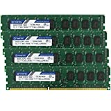 Timetec Hynix IC 32GB Kit(4x8GB) DDR3L 1600MHz PC3-12800 Unbuffered ECC 1.35V CL11 2Rx8 Dual Rank 240 Pin UDIMM Server Memory Ram Module Upgrade (32GB Kit(4x8GB))