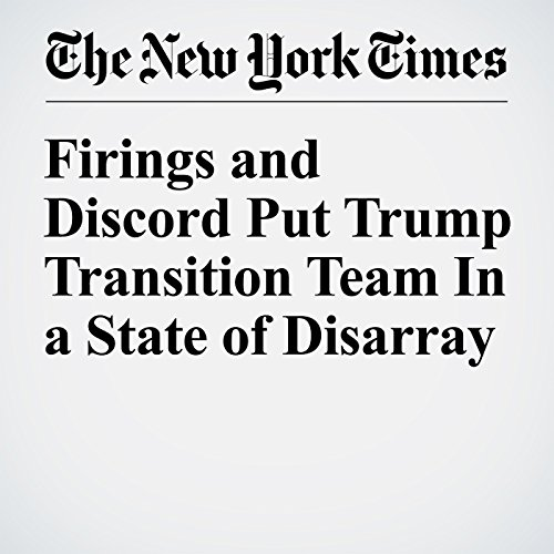 Firings and Discord Put Trump Transition Team In a State of Disarray cover art