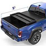 oEdRo Upgraded Soft Tri-fold Truck Bed Tonneau Cover On Top...