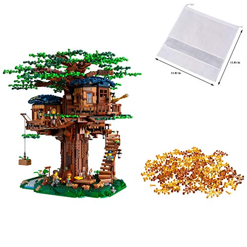LEGO Ideas 21318 Tree House Playset Building Kit — Collectible Display Set and Birthday Family Christmas Holiday Toy for Adults & Kids (3,036 Pieces) — BROAGE Drawstring Bag