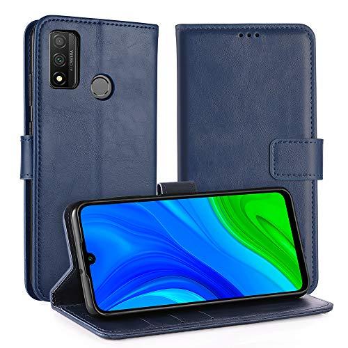 Simpeak Hülle Kompatibel mit Huawei P Smart 2020 [6,21 Zoll], Handyhülle Kompatibel für Huawei P Smart 2020 Leder Flipcase [Kartensteckplätze] [Stand Feature] [Magnetic Closure Snap] - Blau
