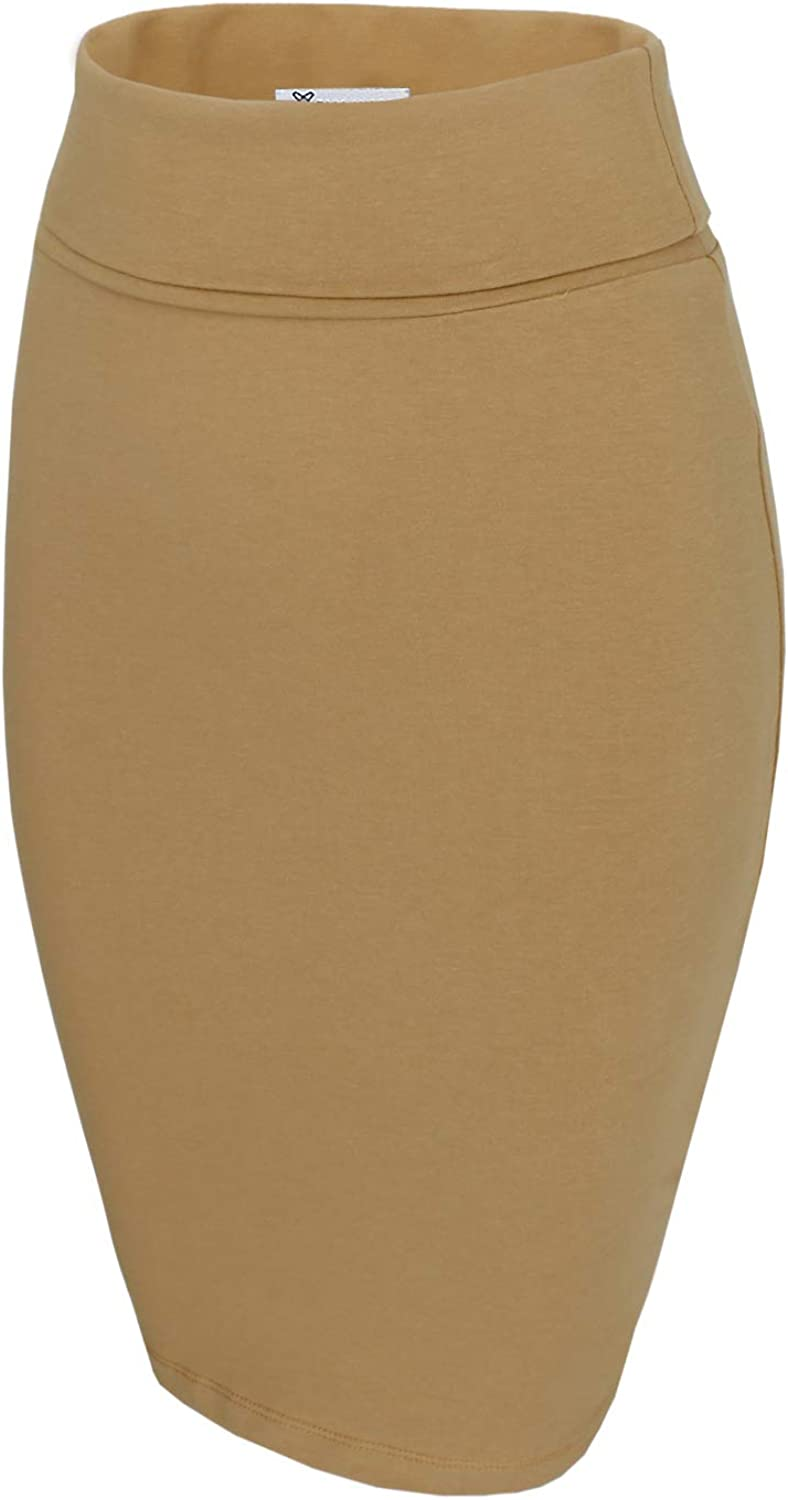 TAM WARE Minneapolis Mall Womens Casual Convertible Pencil Length Knee Skirt Reservation TWCW