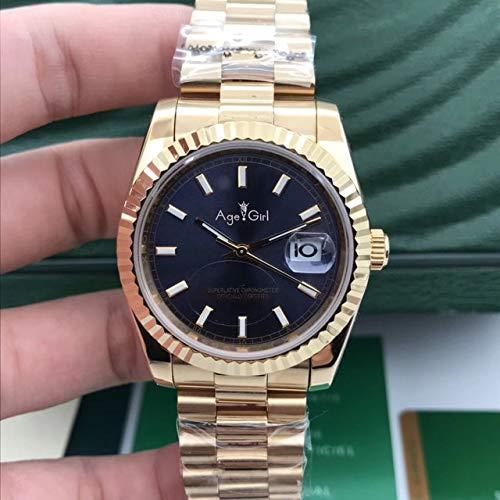 HHBB Marca de lujo acero inoxidable zafiro reloj mujeres automático mecánico plata oro amarillo negro luminoso Aaa+ 7