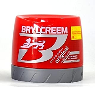 Brylcreem Aqua-Oxy Hair Styling Cream Original Nourishing 250 mL (Pack Of 2)