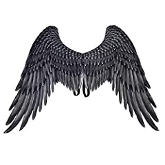 Material:Non-woven fabric,it's not a real feather Wings containing iron wire can be folded,The product is folded and packaged, there may be slight creases,Can be ironed before use Product size: wing shoulder width 45cm, wing height 75cm, wing tail wi...