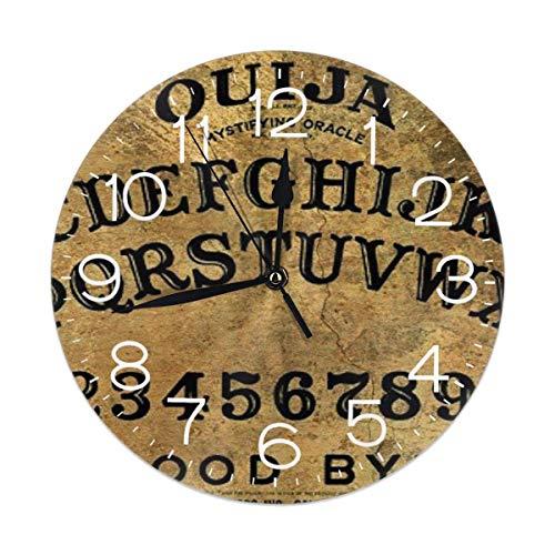 GOSMAO Reloj de Pared,Patrón de Tablero de Ouija de Juego mágico Peligroso, Reloj de Escritorio Decoración del hogar para Cocina Sala de Estar Dormitorio Oficina