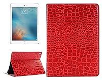 Apple IPad Pro 9.7インチのタブレットケース、ワニテクスチャ水平フリップレザーケースホルダー&カードスロット&財布 (Color : Red)