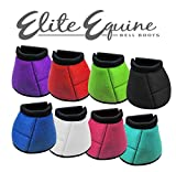 Showman Elite Equine Bell Boots! New Horse TACK! (Blue, Small)