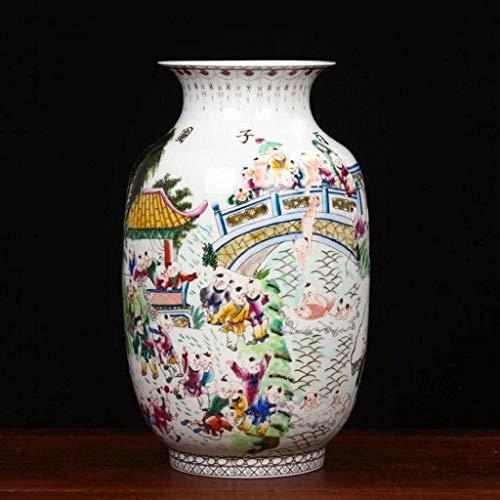Vase Céramique Vase en céramique Blanche Fleur Décoration intérieure Vases Table Céramique Porcelaine Centerpieces Excellente Jingdezhen Pastel Porcelaine