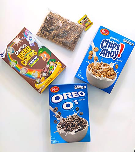 superpack chocolate cereales americanos - oreo, chips ahoy, lucky charms, kit kat