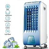 Lapden Control Remoto del acondicionador de Aire del Ventilador, Enfriador evaporativo, Portátil Ventilador de refrigeración con 3 Modos, 3 velocidades y función de Temporizador
