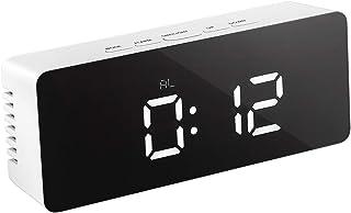 comprar comparacion LEDMOMO LED Despertador Digital con Espejo con Termómetro de Interio Dos Tipo Alarma y Snooze para Dormitorio Oficina Func...
