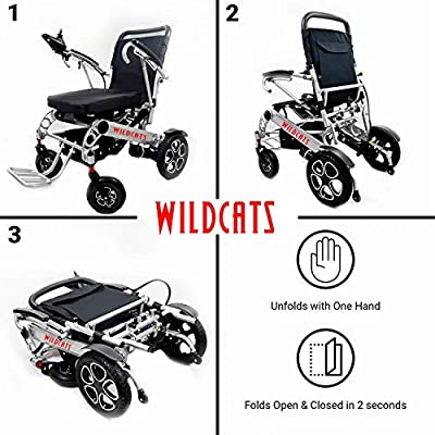 Wildcat Extreme 4-Wheel Sport Heavy Duty Long Range Travel Mobility Scooter for Adults, All Terrain Zero Turn Maneuverability Compact Mobility Power Scout Extended Battery