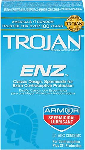 Trojan ENZ Spermicidal Condoms, 12ct
