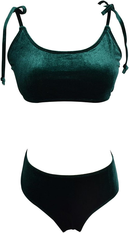 WANG WANG WANG Frauen Bikini Set Bademode Sexy Wrapped Brust Hohe Größe Hohe Elastizität Gold Volltonfarbe Strand Badeanzug (Farbe   rot, größe   S) B07FN1H7KB  Rechtzeitige Aktualisierung b79c3d