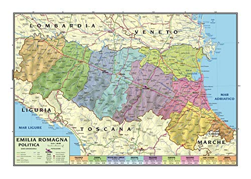 Emilia Romagna Cartina Province.Cartina Emilia Romagna Politica Migliori Offerte 2021