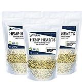 Hemp Hearts - 100% Pure Hemp Hearts - Raw Shelled Hemp Seeds (3 Pounds)