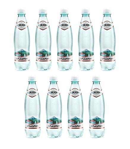 Mineral Kohlensäurehaltige Wasser Borjomi Glitzernd Wasser in kunststoff 0,5l Flasche [Packung von 9]