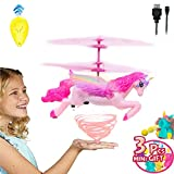 Akargol Flying Unicorn Gifts for Girls Age 5 6 7 8 9-14 Year Old Kids- Best Gift Birthday Unicorn Toys for Girls Toddler Helicopter Fairy Doll Outdoor Indoor