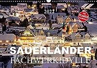 Sauerlaender Fachwerkidylle (Wandkalender 2022 DIN A3 quer): Fachwerkhaeuser im Sauerland (Geburtstagskalender, 14 Seiten )