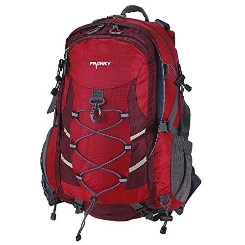 Franky RS Rucksack mit Laptopfach 48 cm rot/grau