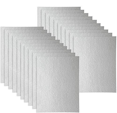WuYan 20 fundas de guía de ondas, universal para horno microondas, cortado a medida, 150 x 120 mm