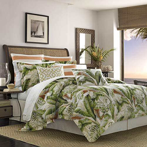 Tommy Bahama Palmiers Comforter Set, Queen, Medium Green