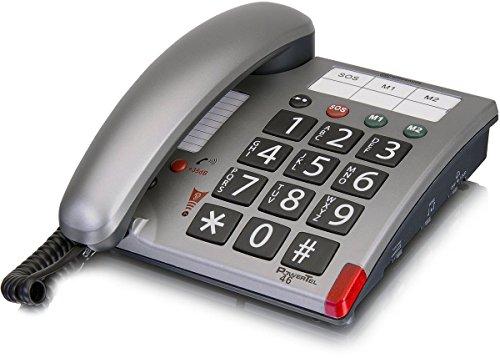 amplicomms PowerTel 46, Großtasten-Handy mit programmierbaren Notrufnummern