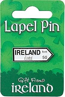 Gift from Ireland Lapel Pin - Ireland Signpost White