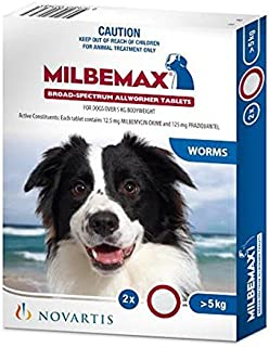 Milbemax All Wormer Tablets for Dogs, 2 Count