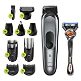 Braun All-in-one trimmer MGK7221, 10-in-1 trimmer, 8 attachments and Gillette Fusion5 ProGlide...