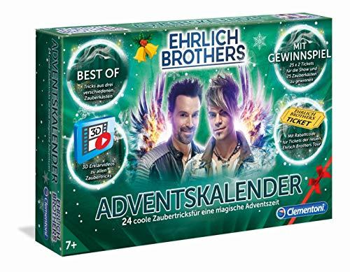 Clementoni 59180 Ehrlich Brothers Adventskalender der Magie, magischer Weihnachtskalender, mit 24 coolen Zaubertricks, Zauberkasten für Kinder ab 7 Jahren