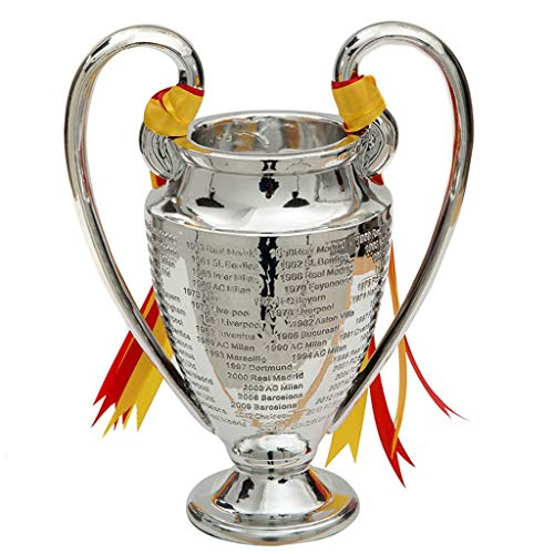 Champions League Trophy UEFA Trophies Soccer Replica Award 2019 Liverpool Large Big Ear Awards Cup Silver Plating Football Medal Fans Souvenir for Collections Home Decoration- 30' ( Size : 16CM/6.3' )