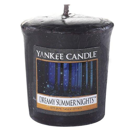 YANKEE CANDLE Samplers Candele Votive Dreamy Summer Nights, Cera, Porpora, 4.5x4.5x5.3 cm