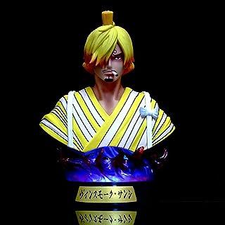 LHHH アニメPuppe Wano Land kimono sanji siebenfarbige leuchtendebüstesanji hochwertige version skulptur stum spielzeug figual...