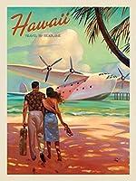 水上飛行機による金属看板ハワイ旅行キッチンホームガレージバーパブ屋外レトロアート看板8X12インチの金属ヴィンテージ錫看板の装飾