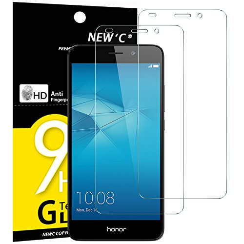 NEW'C Lot de 2, Verre Trempé Compatible avec Huawei Honor 5C, Film Protection écran sans Bulles d'air Ultra Résistant (0,33mm HD Ultra Transparent) Dureté 9H Glass