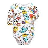 David A Beltran Baby-Strampler, langärmelig, für Jungen und Mädchen Gr. 3 Monate, multi