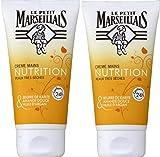 Le Petit Marseillais - Crème Mains - Nourrissante Peaux très Sèches - Tube 75 ml - Lot de 2