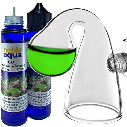 noble aqua Medidor de CO2 para acuario de 150 ml, indicador de CO2, líquido 20 mg/l, medidor de CO2