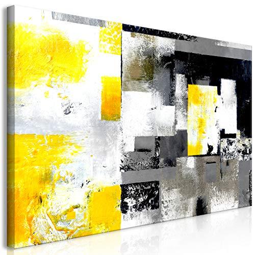 murando Cuadro Mega XXXL Abstracto 160x80 cm Cuadro en Lienzo en Tamano XXL Grande Gigante Imagen para Montar por uno Mismo Decoración De Pared Impresión DIY Gris Amarillo a-A-0433-ak-e