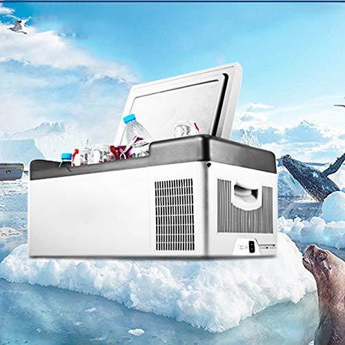 LIUXU Refrigerador portátil del Coche, Refrigerador DC 24V 12V, 220V Hogar refrigerador Congelador Frigorífico 15L refrigerador de Coche