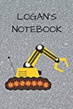 Logan's  Notebook: Funny Digger  Writing 120 pages Notebook Journal -  Small Lined  (6' x 9' )