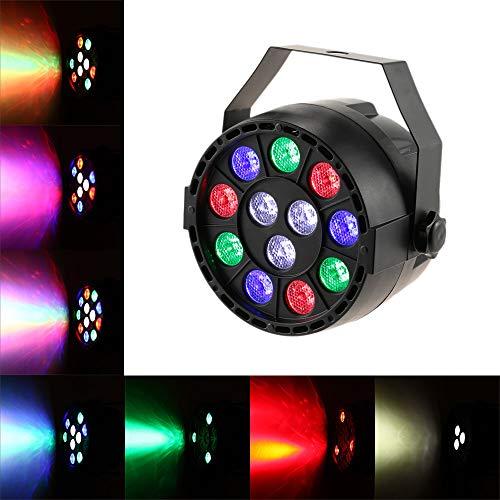 Ritioner RGBW DMX-512 LED de Alta Potencia Etapa PAR iluminación luz estroboscópica Profesional 8 Canales Show Disco Party, IP20 15W CA 90-240V para Club, Show DJ, Fiesta casera.11.5 * 11.5 * 13.5cm
