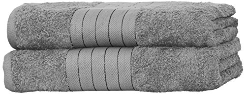 Dreamscene Luxury 100% Cotton 2 x Jumbo Bath Sheets Extra Large Towels Bale - Silver