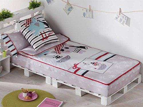 Saco nórdico con diseño de piratas, para cama de 90 cm.