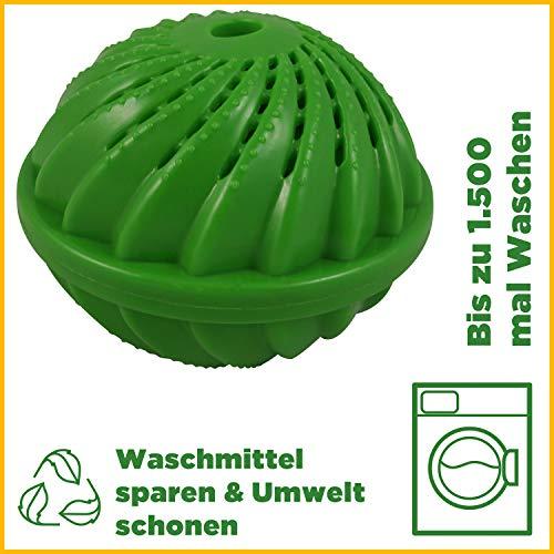HOME DEPT Waschball Waschkugel für Waschmaschine mit natürlicher Wirkung durch Silberionen und...